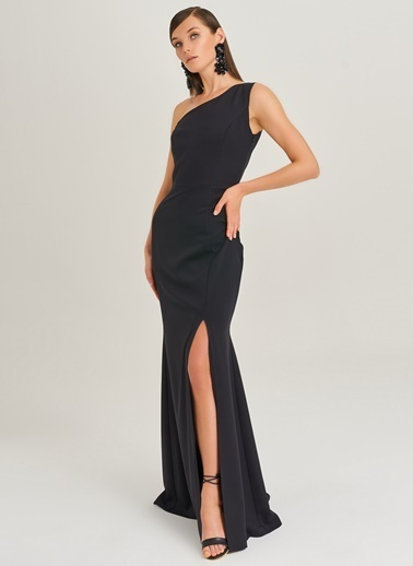 Tek Omuz Detaylı Elbise-People By Fabrika